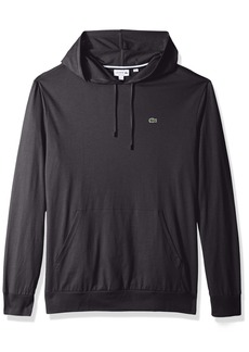 Lacoste Men's Long Sleeve Jersey Hoodie Tee With Central Pocket TH9349  XXL