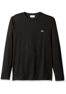 Lacoste Men's Long Sleeve Jersey Pima Regular Fit Crewneck T-Shirt  L