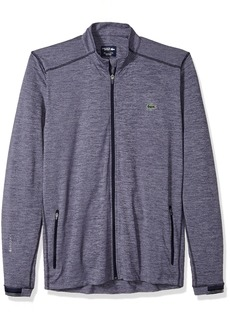 Lacoste Men's Long Sleeve Midlayer Flamme with Front Two Zipper Pockets Sweatshirt