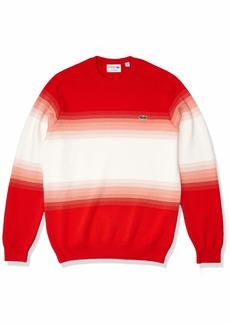 Lacoste Men's Long Sleeve Ombre Interlock Sweater Corrida/Elf Pink-Flour XXL