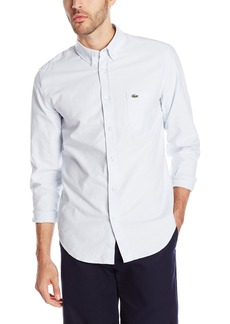 Lacoste Men's Long Sleeve Oxford Regular Fit Button Down Woven Shirt  44