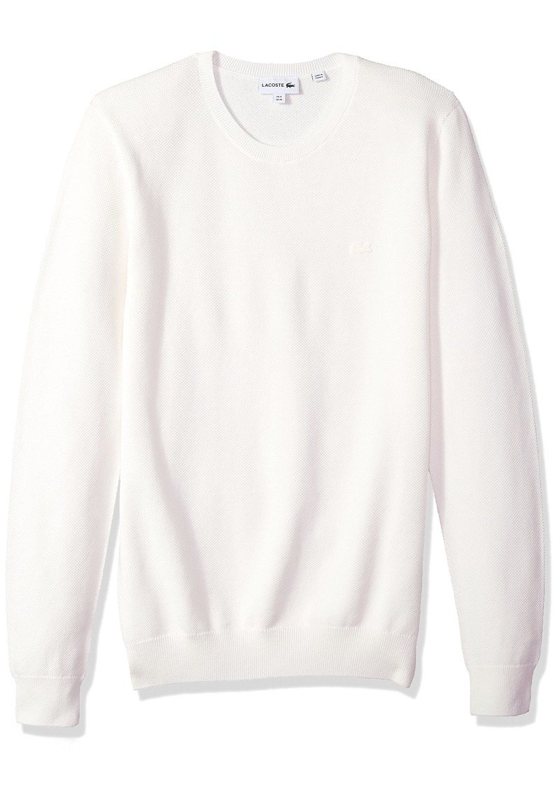 Lacoste Men's Long Sleeve Pique Mesh Effect Sweater AH4082
