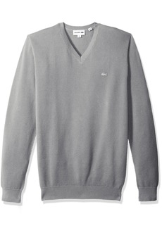 Lacoste Men's Long Sleeve Pique Mesh Effect V-Neck Sweater AH4090