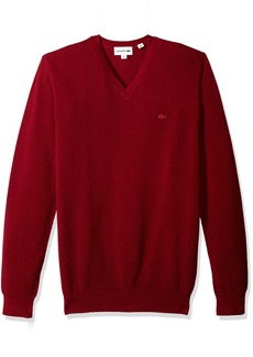 Lacoste Men's Long Sleeve Pique Mesh Effect V-Neck Sweater AH4090