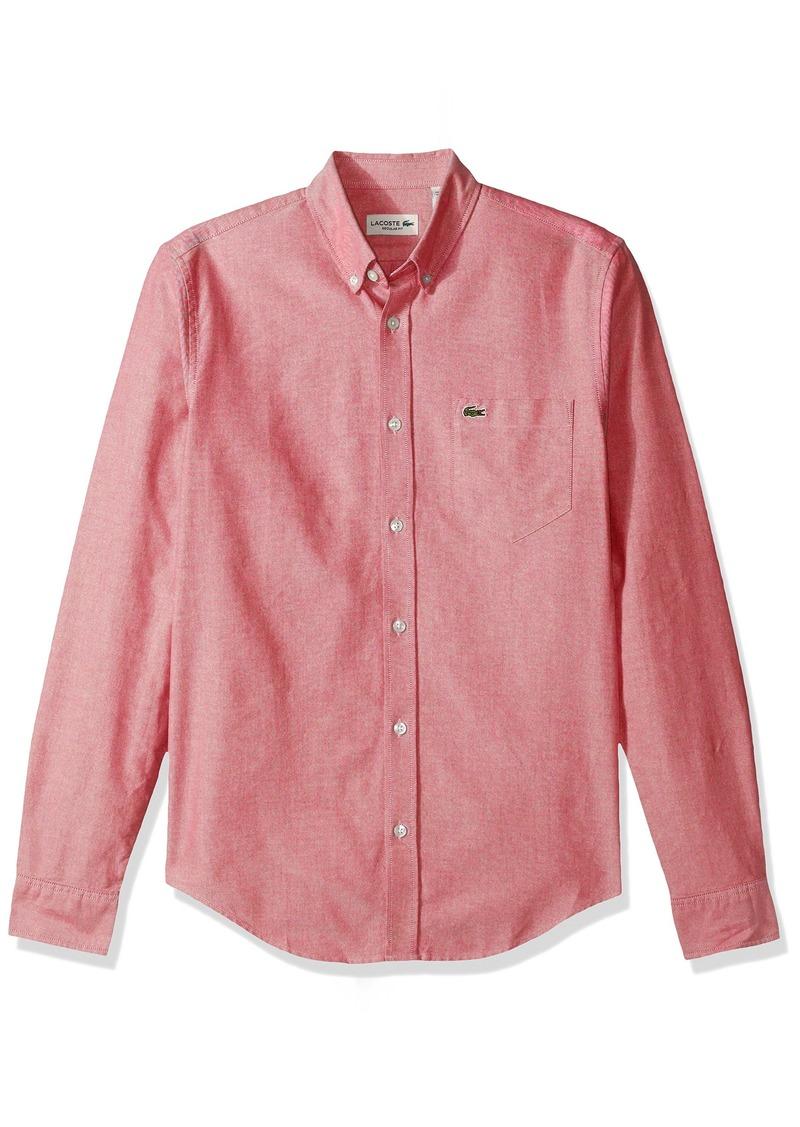 e47f33e5 Men's Long Sleeve Regular Fit Button Down Oxford Solid Woven Shirt CH2286-51