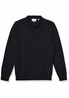 Lacoste Men's Long Sleeve Regular Fit Classic Stitch Sweater  M