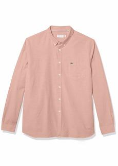 Lacoste Men's Long Sleeve Regular Fit Oxford Shirt ELF Pink S