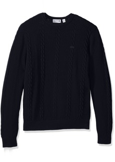 Lacoste Men's Long Sleeve Resort Cotton Cable Crewneck AH9214-51