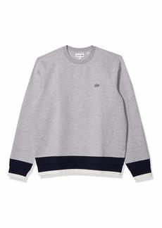 Lacoste Men's Long Sleeve Semi Fancy Crewneck Sweatshirt  L