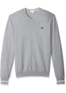 Lacoste Men's Long Sleeve Semi Fancy Jersey V-Neck Sweater AH4086