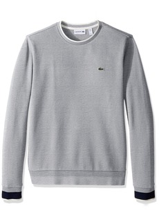 Lacoste Men's Long Sleeve Semi-Fancy Pique Crew Sweatshirt SH9588-51