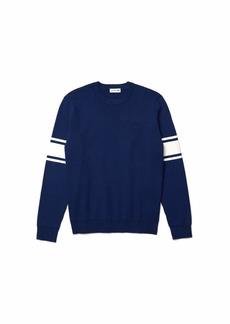 Lacoste Men's Long Sleeve Semi Fancy Regular Fit Sweater  XXL