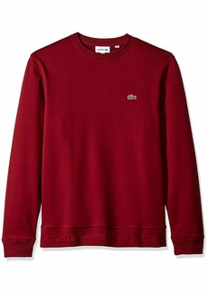 3f4a8183 Lacoste Lacoste Men's Long Sleeve Light French Terry Tonal Croc ...