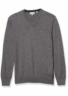 Lacoste Men's Long Sleeve V Neck Cotton Jersey Sweater  XXX-Large