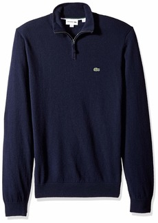 Lacoste Men's Long Sleeve Wool with 3/4 Zip