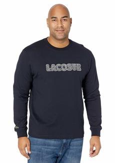 Lacoste Men's Long Sleeve Wording Graphic T-Shirt  L