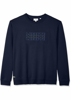Lacoste Men's Long Sleeve Wordplay Sweatshirt