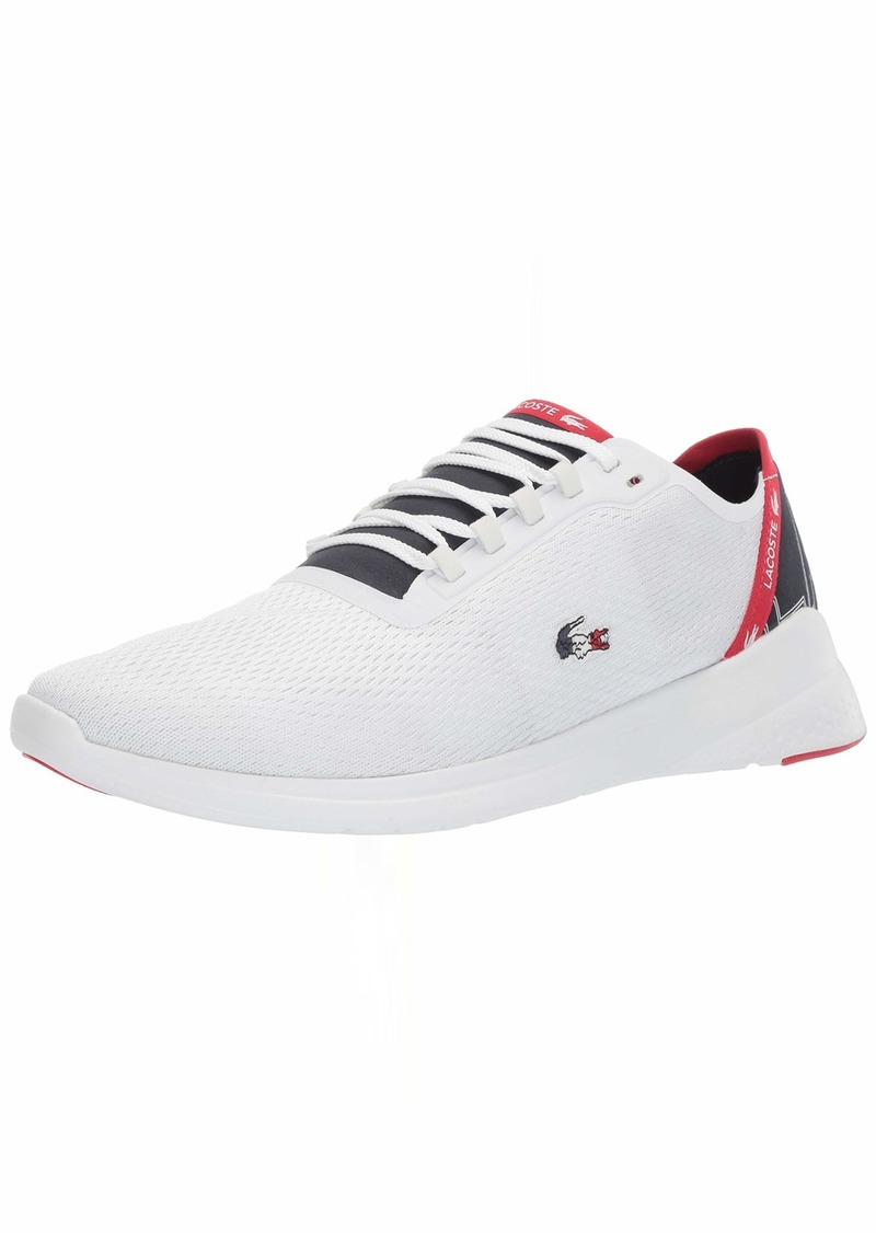 Lacoste Men's LT FIT Sneaker White/Navy/red  Medium US