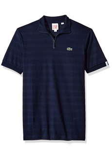 Lacoste Men's Lve Short Sleeve Fancy Striped Jersey Polo  XXL