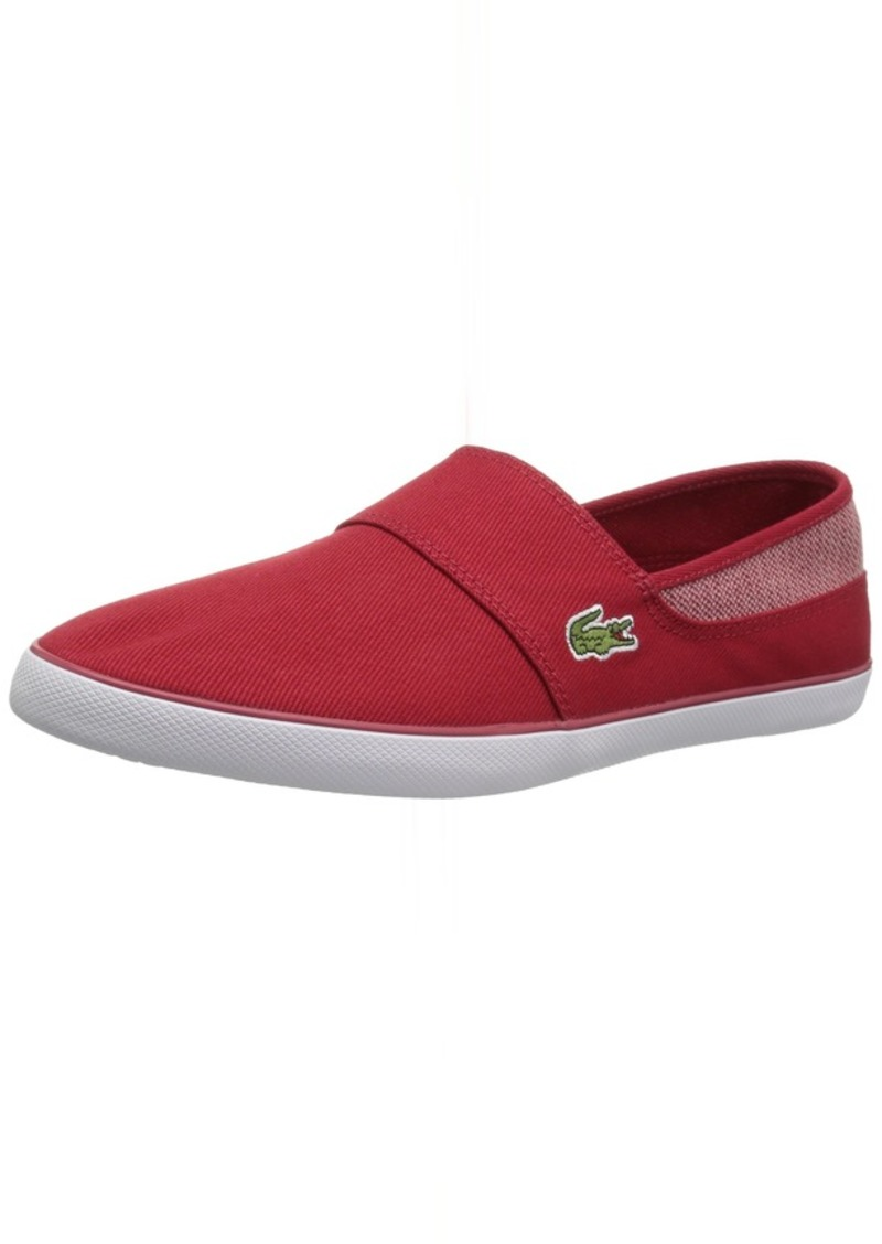 Lacoste Men's Marice Sneaker red Canvas  Medium US