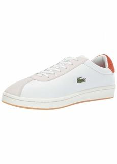 1e3e11f73 Lacoste Men s Masters Sneaker Off White red 9.5 Medium US