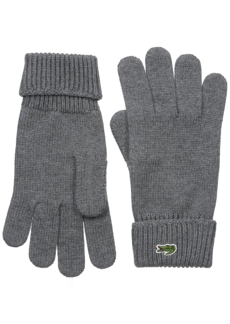 5fcd14c3cf9abd Lacoste Lacoste Men s Men s Green Croc Wool Gloves