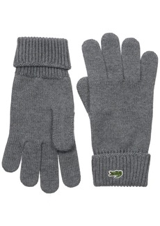 Lacoste Men's Men's Green Croc Wool Gloves