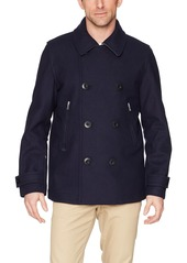 Lacoste Men's Mid Weight Wool Peacoat  4X-Large