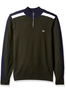 Lacoste Men's Mif Wool and Jersey Half-Zip Sweater