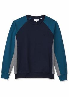 Lacoste Men's Motion Long Sleeve Quick Dry Sweatshirt Navy Blue/Nimbus-Legion Blue XXL
