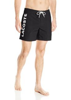 Lacoste Men's Poplin Board Short with Vertical Logo