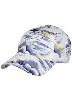Lacoste Men's Print Gabardine Hat Purpy/Clusi-WHI ONE