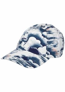 Lacoste Men's Print Gabardine Hat Willow/Lata-White ONE