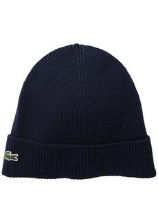 Lacoste Men's Rib Wool Beanie