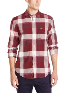 Lacoste Men's Seg 1 Long Sleeve Bold Plaid  45