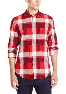 Lacoste Men's Seg 1 Long Sleeve Bold Plaid  42