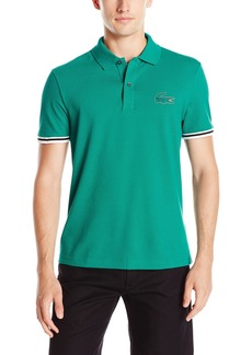 Lacoste Men's Seg 1 Short Sleeve 3D Rubber Outline Croc Polo  9
