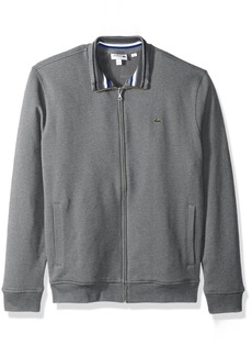 Lacoste Men's Semi Fancy Brushed Pique Fleece Full Zip Sweatshirt
