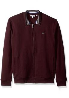 Lacoste Men's Semi Fancy Brushed Pique Fleece Full Zip Sweatshirt  M