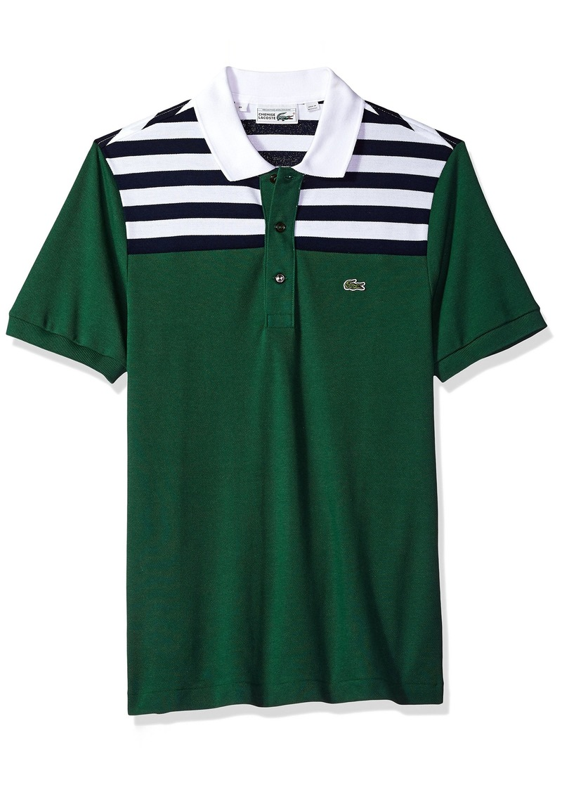 e3e99326 Lacoste Men's Short Sleeve '85th Anni' 80's Stripe Original Polo PH7327