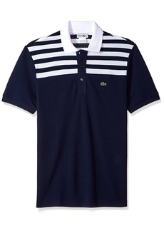 Lacoste Men's Short Sleeve '85th Anni' 80's Stripe Original Polo PH7327  XXL