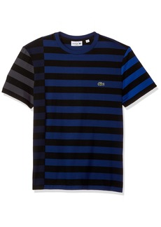 5c078aec Lacoste Men's Short Sleeve Broken Striped Jersey Tee-Relaxed Fit