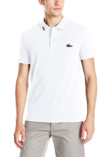 Lacoste Men's Short Sleeve Clean Seams Pique W/Rubber Croc  9