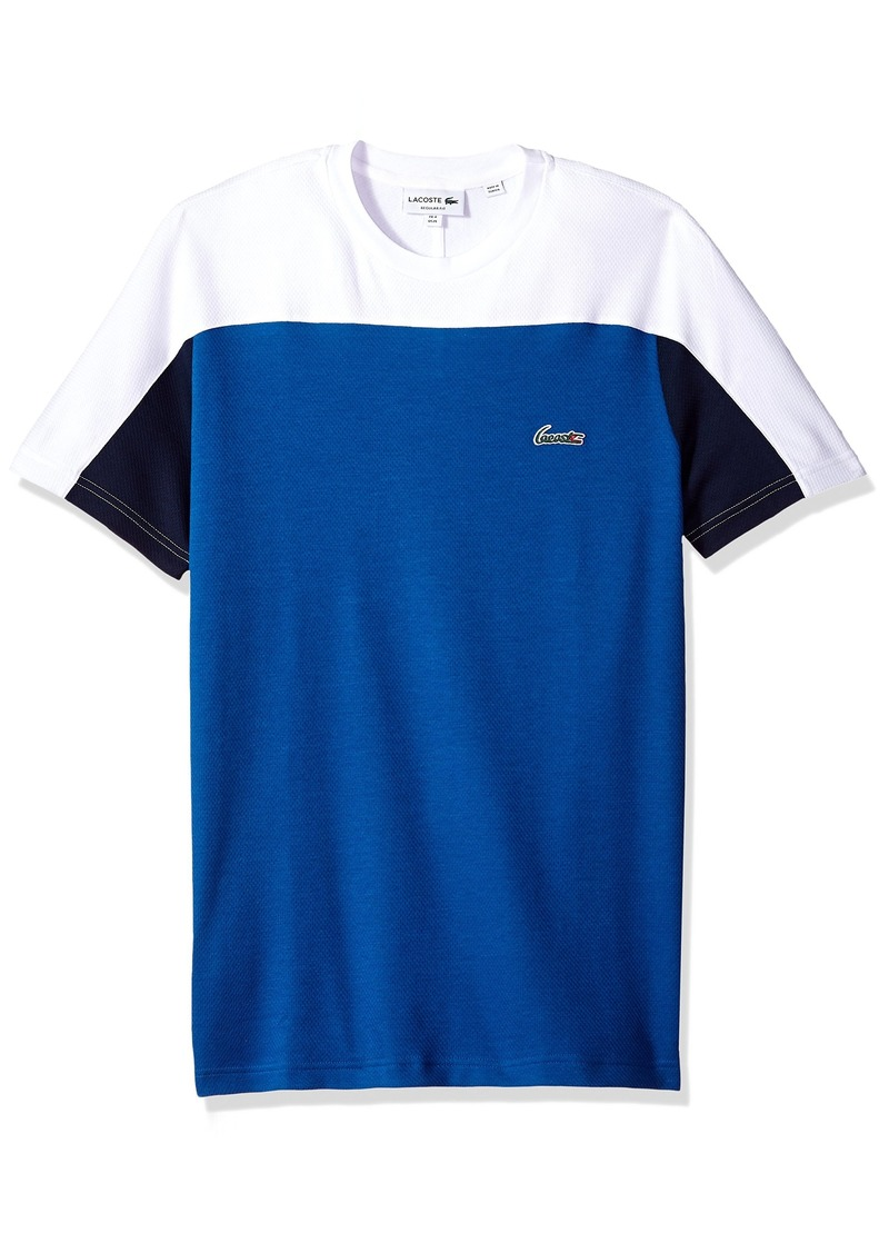 56901fdd5f1b Lacoste Men s Short Sleeve Color Block Life Double Face Reg Fit T-Shirt  TH3265