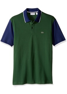 Lacoste Men's Short Sleeve Colorblock Stretch Pique Slim Polo PH2014