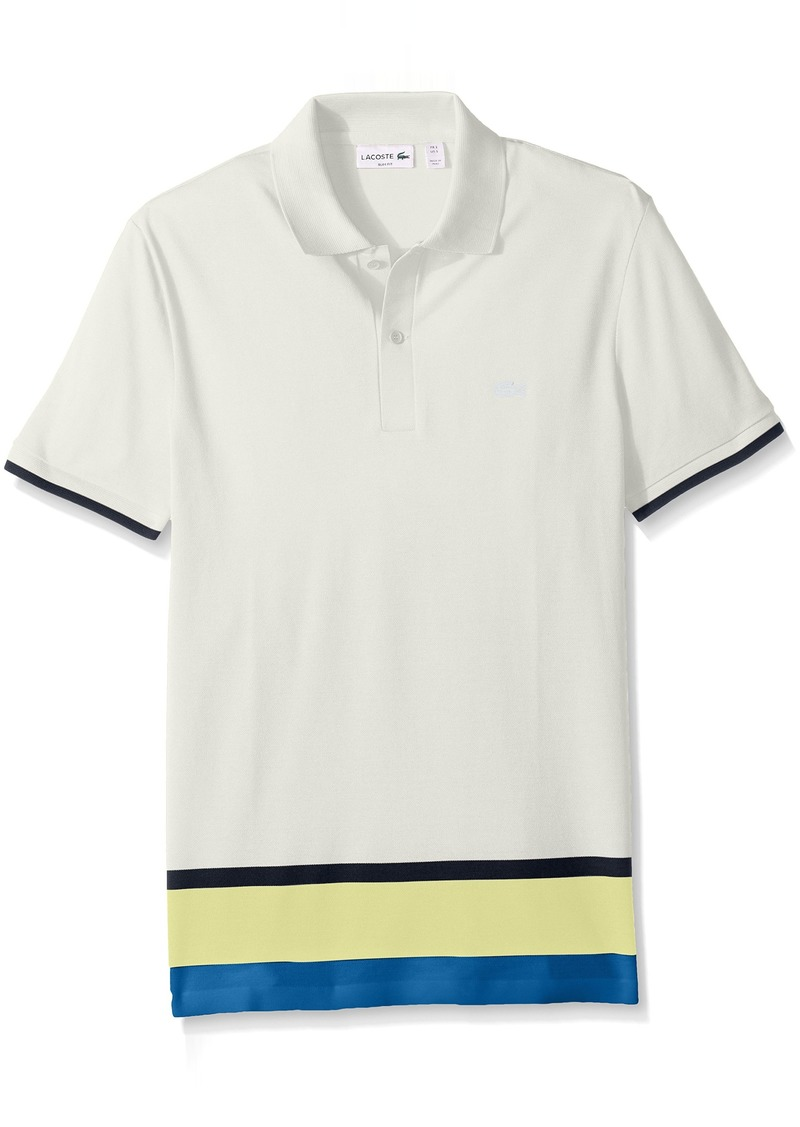 1787d227 Lacoste Lacoste Men's Short Sleeve Engineered Stripe Botton Pique ...