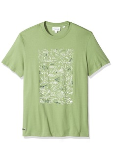 Lacoste Men's Short Sleeve Graphic Animation Jersey Print Reg Fit T-Shirt TH3270