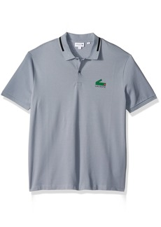 Lacoste Men's Short Sleeve Graphic Pique Polo With Printed Croc Logo  M