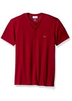 Lacoste Men's Short Sleeve Henley Jersey Pima T-Shirt TH0884  S