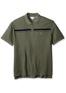 Lacoste Men's Short Sleeve Heritage France Stripe Pique Classic Polo PH3915
